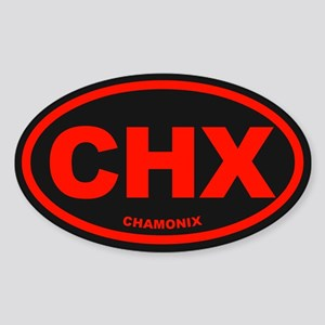 Chamonix Sticker (Oval)