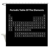 Periodic table black Shower Curtains