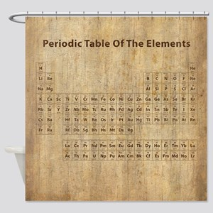 Vintage Periodic Table Shower Curtain