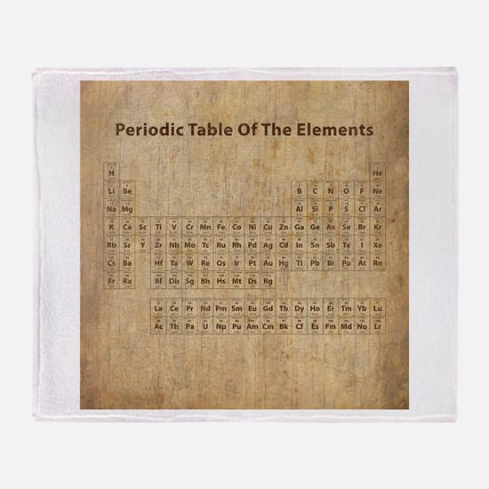 Vintage Periodic Table Throw Blanket