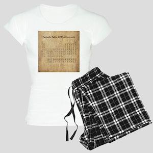 Vintage Periodic Table Women's Light Pajamas