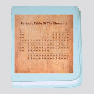 Periodic table of the elements baby blankets cafepress vintage periodic table baby blanket urtaz Image collections