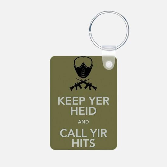 Keep yer heid and call yir hits Keychains