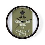Keep yer heid and call yir hits Wall Clock