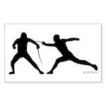 Fence! Sticker (Rectangle 50 pk)