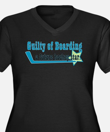 Cute Hockey moms Women's Plus Size V-Neck Dark T-Shirt