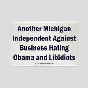Michigan Independent Rectangle Magnet