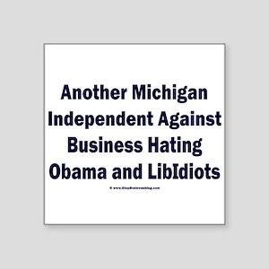 "Michigan Independent Square Sticker 3"" x 3"""