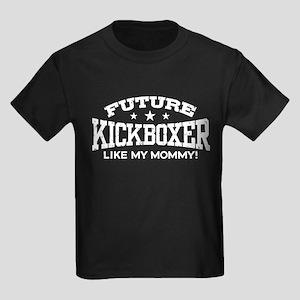 Future Kickboxer Like My Mommy Kids Dark T-Shirt