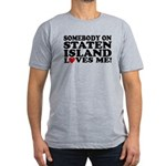Staten Island Men's Fitted T-Shirt (dark)