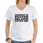 Staten Island Women's V-Neck T-Shirt