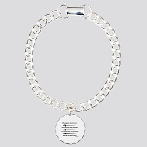 Fencer Thoughts Charm Bracelet, One Charm