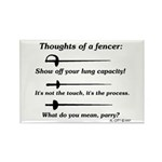 Fencer Thoughts Rectangle Magnet (100 pack)