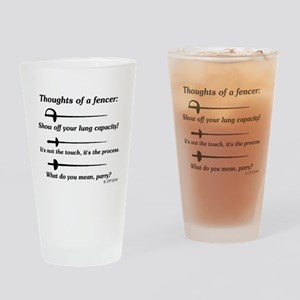 Fencer Thoughts Drinking Glass