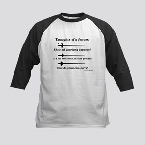Fencer Thoughts Kids Baseball Jersey