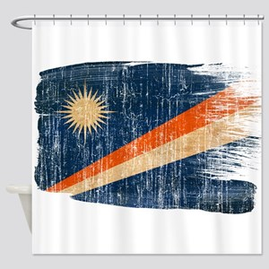 Marshall Islands Flag Shower Curtain