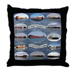 1,000 Footers On The Great Lakes Throw Pillow