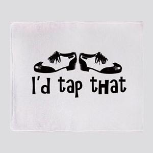 i'd tap that Throw Blanket