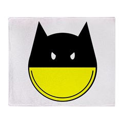 Bat Smiley Throw Blanket