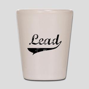 2-lead-blk Shot Glass