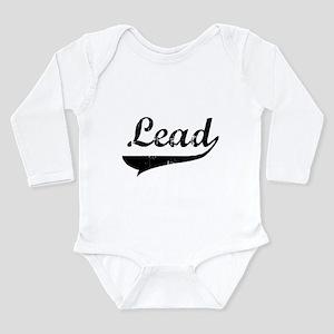 2-lead-blk Long Sleeve Infant Bodysuit