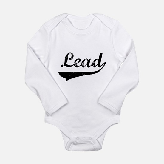 2-lead-blk.png Long Sleeve Infant Bodysuit