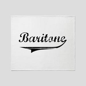 baritone-blk Throw Blanket