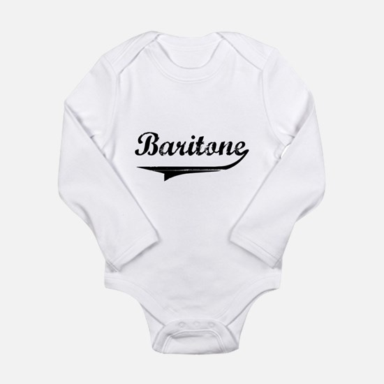 baritone-blk.png Long Sleeve Infant Bodysuit