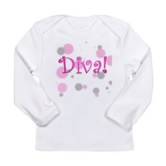 4-3-diva transparent Long Sleeve Infant T-Shir