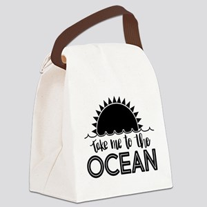 Take Me To The Ocean Canvas Lunch Bag