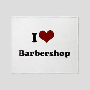 iheart barbershop Throw Blanket