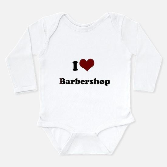 iheart barbershop.png Long Sleeve Infant Bodysuit