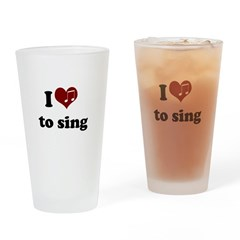 i heart to sing.png Drinking Glass