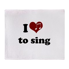 i heart to sing.png Throw Blanket