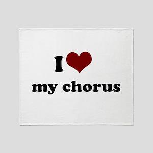 heart my chorus Throw Blanket