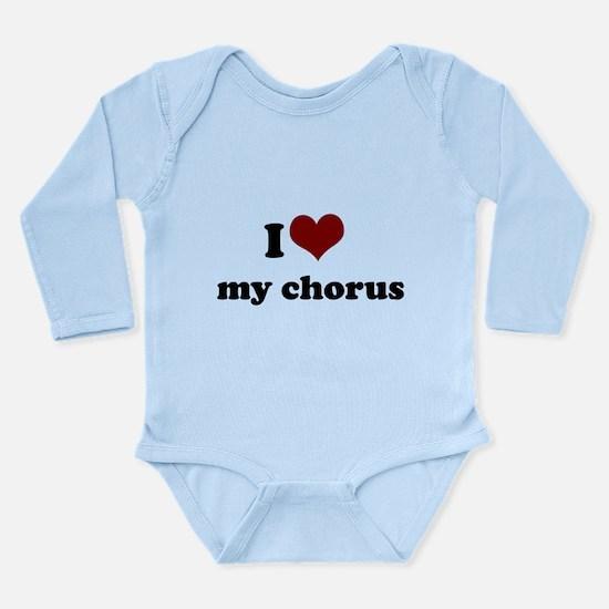 heart my chorus.png Long Sleeve Infant Bodysuit