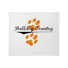 flip-dog Throw Blanket