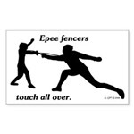 Epee Touch Sticker (Rectangle 10 pk)