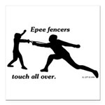 Epee Touch Square Car Magnet 3
