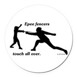 Epee Touch Round Car Magnet