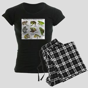 Tree Frogs of North America Women's Dark Pajamas