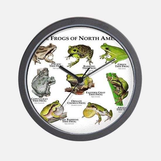 Tree Frogs of North America Wall Clock