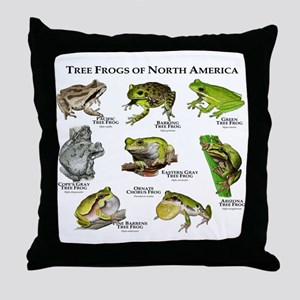 Tree Frogs of North America Throw Pillow