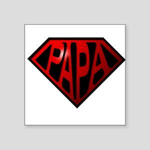 "papa Square Sticker 3"" x 3"""