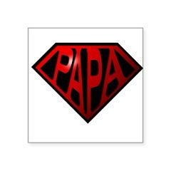 papa Square Sticker 3