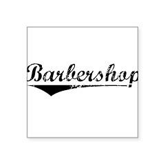 barbershop Square Sticker 3