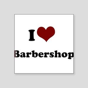 "iheart barbershop Square Sticker 3"" x 3"""