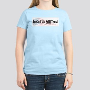 In God We Still Trust Women's Pink T-Shirt