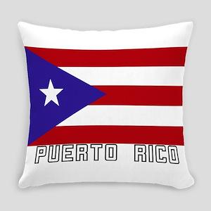 Puerto Rico Bandera Everyday Pillow