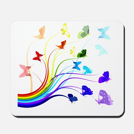 Butterflies and Rainbows Mousepad
